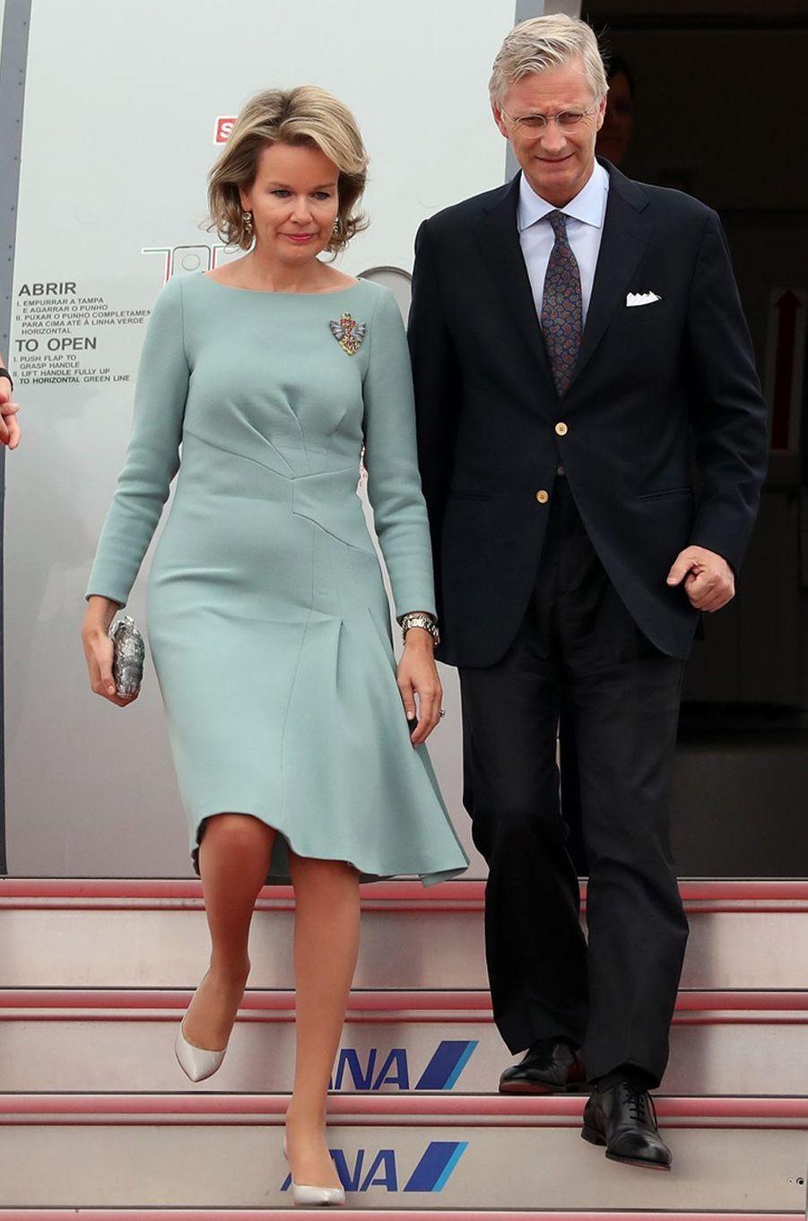 La reine Mathilde de Belgique au Japon, le 10 octobre 2016