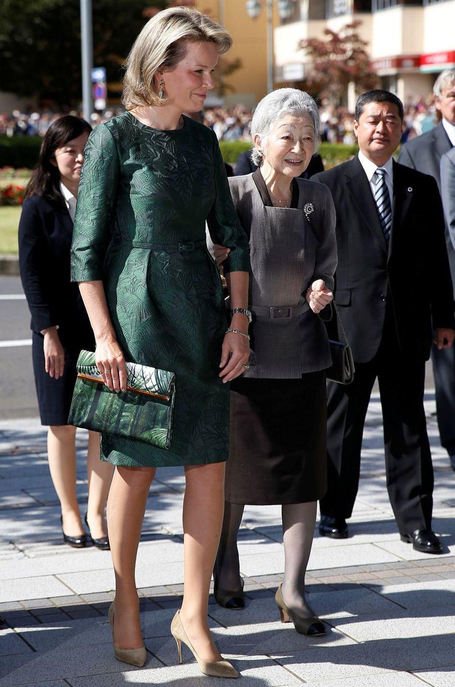 La reine Mathilde de Belgique au Japon, le 12 octobre 2016