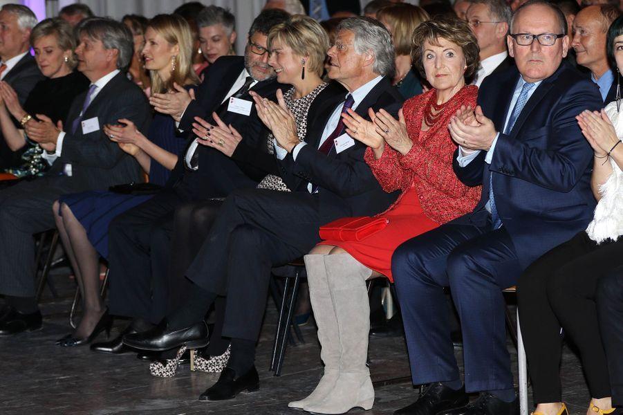 Au premier plan, la princesse Margriet des Pays-Bas à Bruxelles, le 31 mars 2015