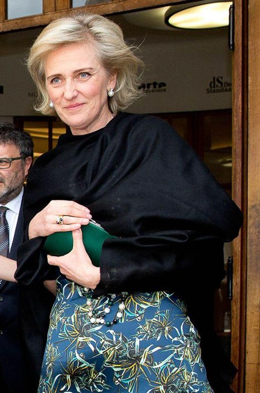 La princesse Astrid de Belgique à Bruxelles, le 31 mars 2015