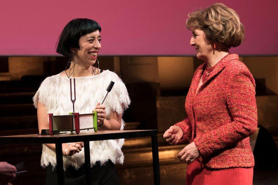 La princesse Margriet des Pays-Bas remet un prix à son nom à Bruxelles, le 31 mars 2015