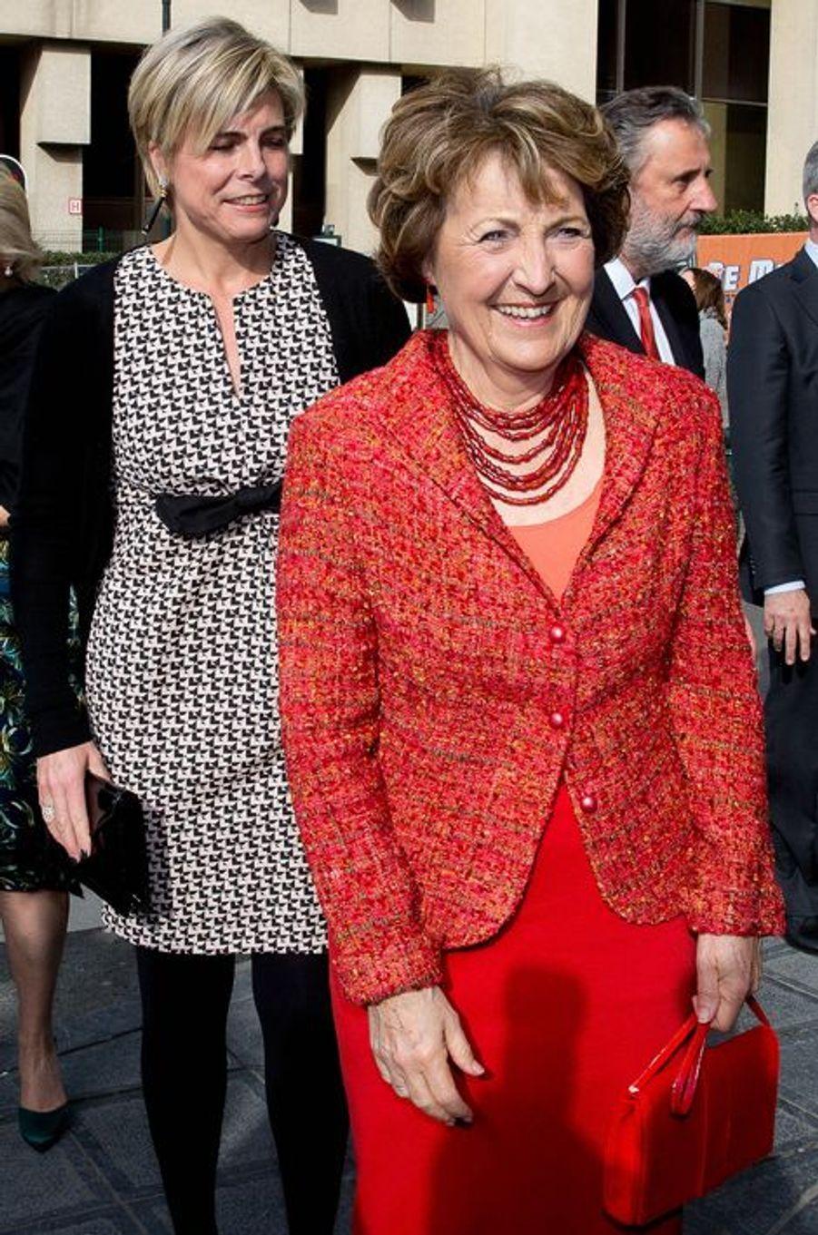 Les princesses Laurentien et Margriet des Pays-Bas à Bruxelles, le 31 mars 2015