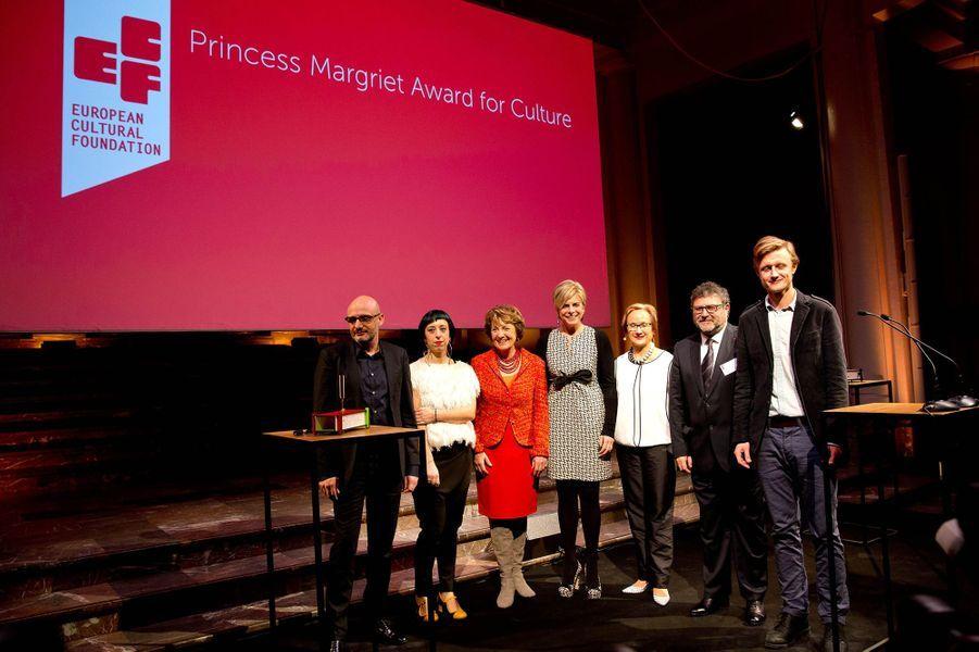 Les princesses Margriet et Laurentien des Pays-Bas à Bruxelles, le 31 mars 2015