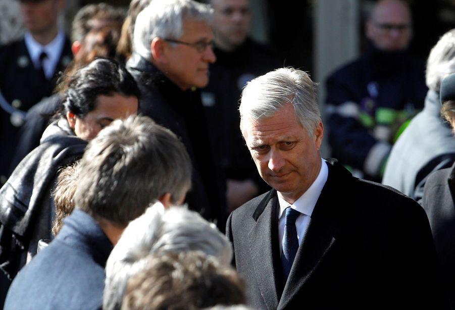 La Reine Mathilde Et Le Roi Des Belges Philippe Rendent Hommages Aux Victimes Des Attentats Du 22 Mars 2016 À Bruxelles 10
