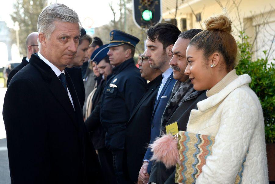 La Reine Mathilde Et Le Roi Des Belges Philippe Rendent Hommages Aux Victimes Des Attentats Du 22 Mars 2016 À Bruxelles 33