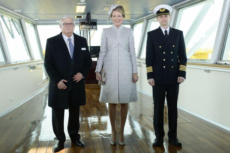 La reine Mathilde de Belgique à Ostende, le 28 avril 2016