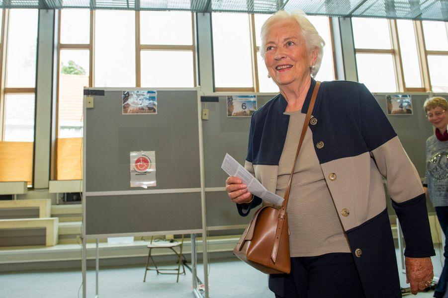 L'ex-reine des Belges Paola à Laeken, le 26 mai 2019