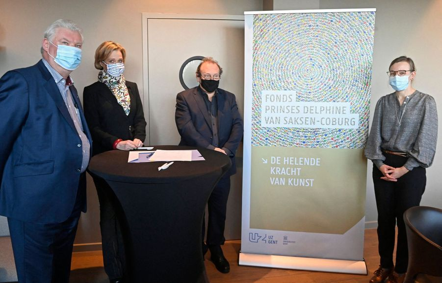 La princesse Delphine de Saxe-Cobourg à Gand, le 10 décembre 2020