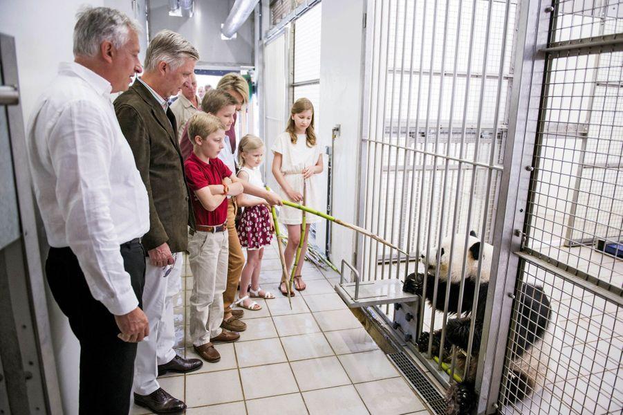 La famille royale belge au Pairi Daiza à Brugelette, le 11 juillet 2015