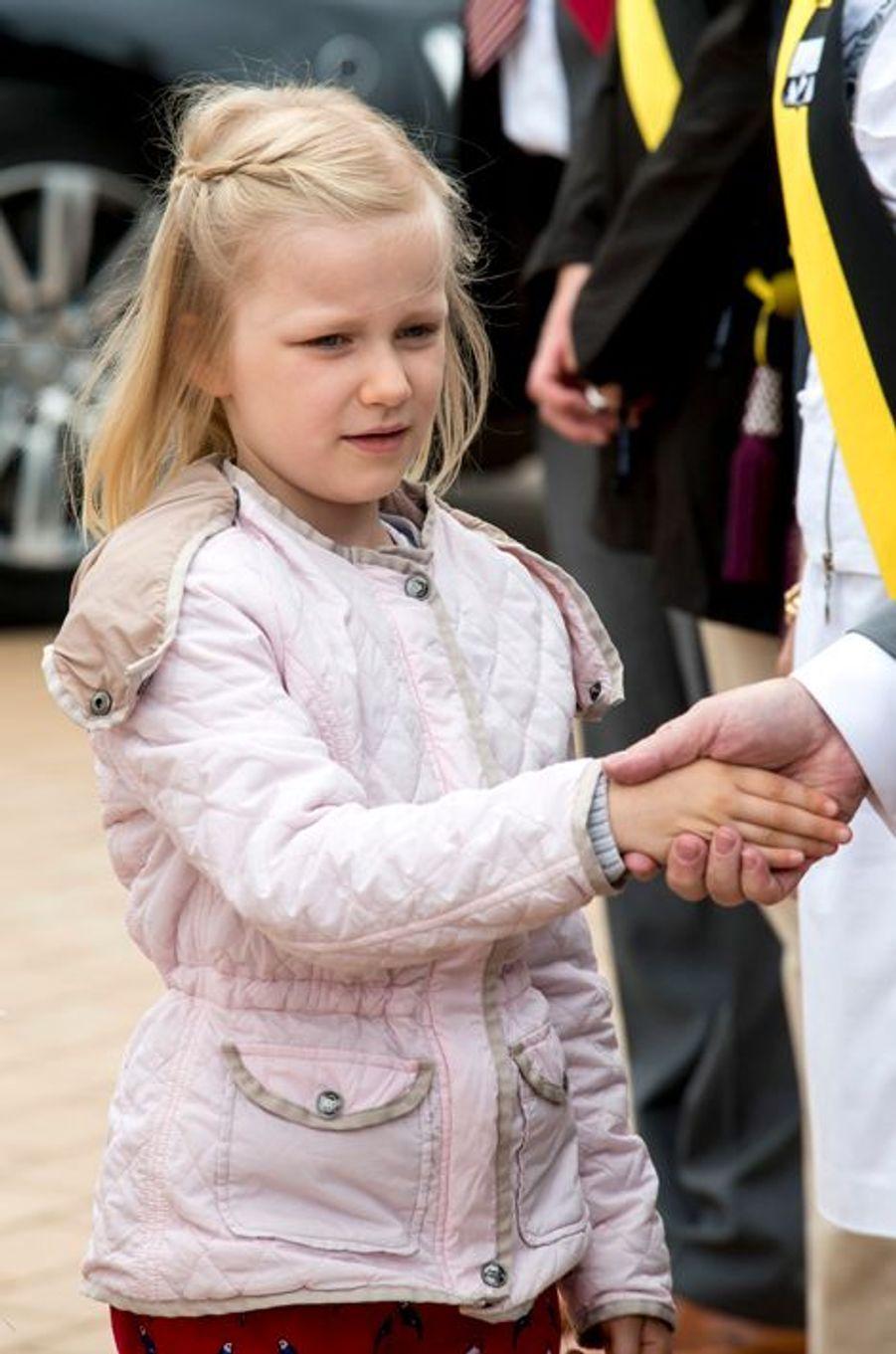 La princesse Éléonore de Belgique à Blankenberge, le 12 juillet 2015