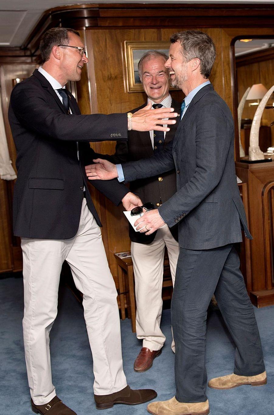Le prince Frederik de Danemark, le 22 mai