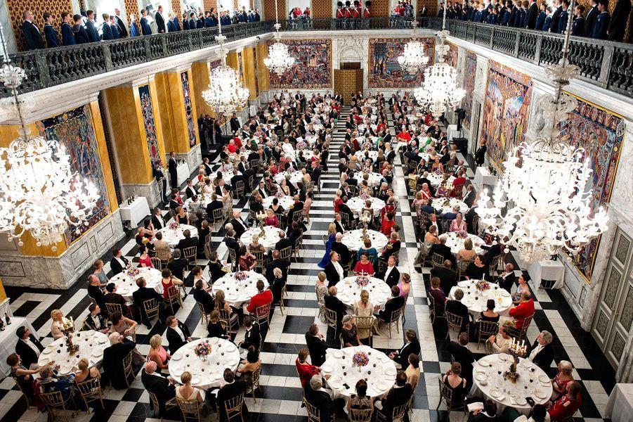 Dîner de gala pour les 50 ans du prince Frederik de Danemark, le 26 mai 2018