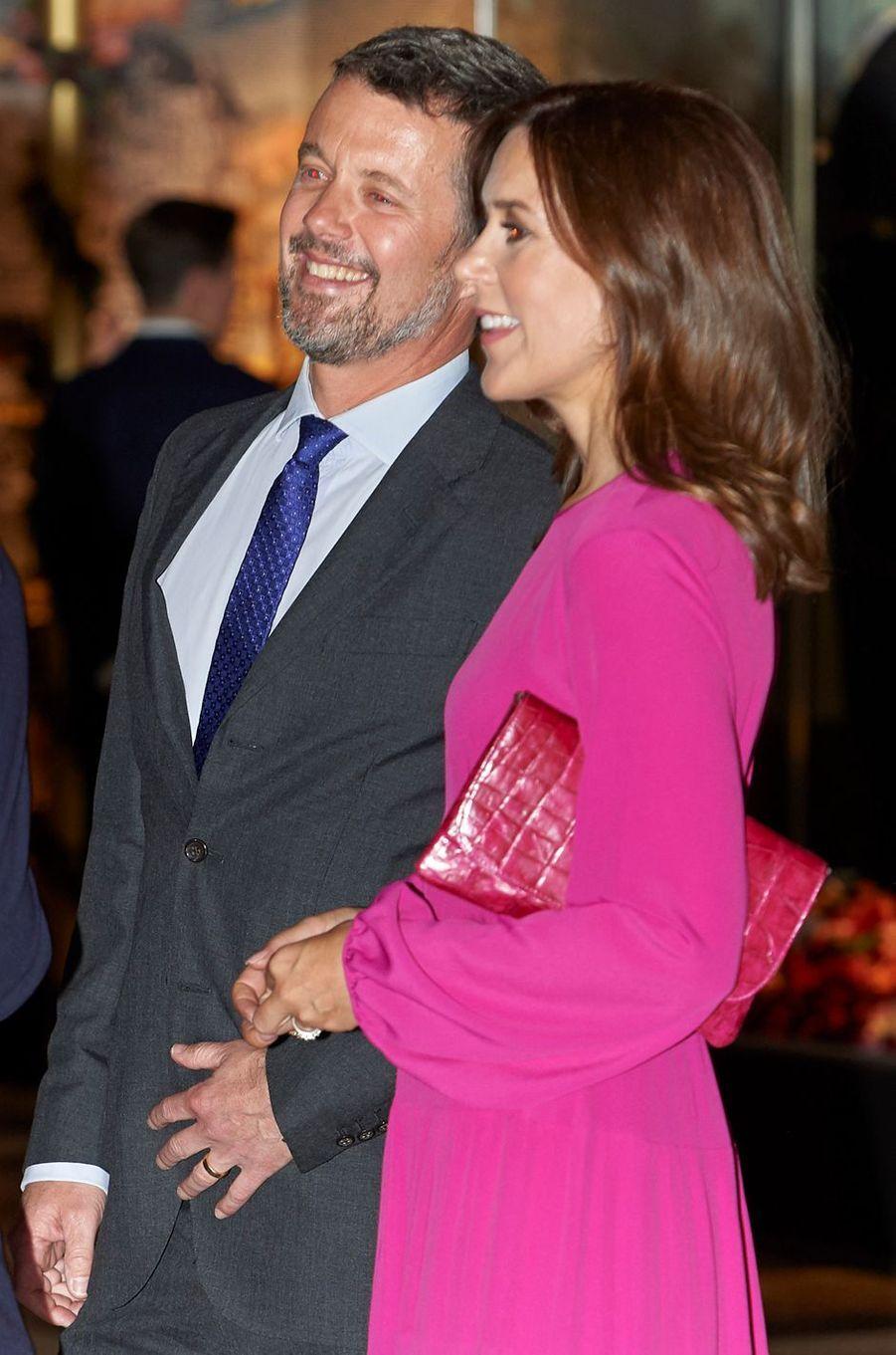 Le prince Frederik de Danemark avec sa femme la princesse Mary, le 24 mai 2018