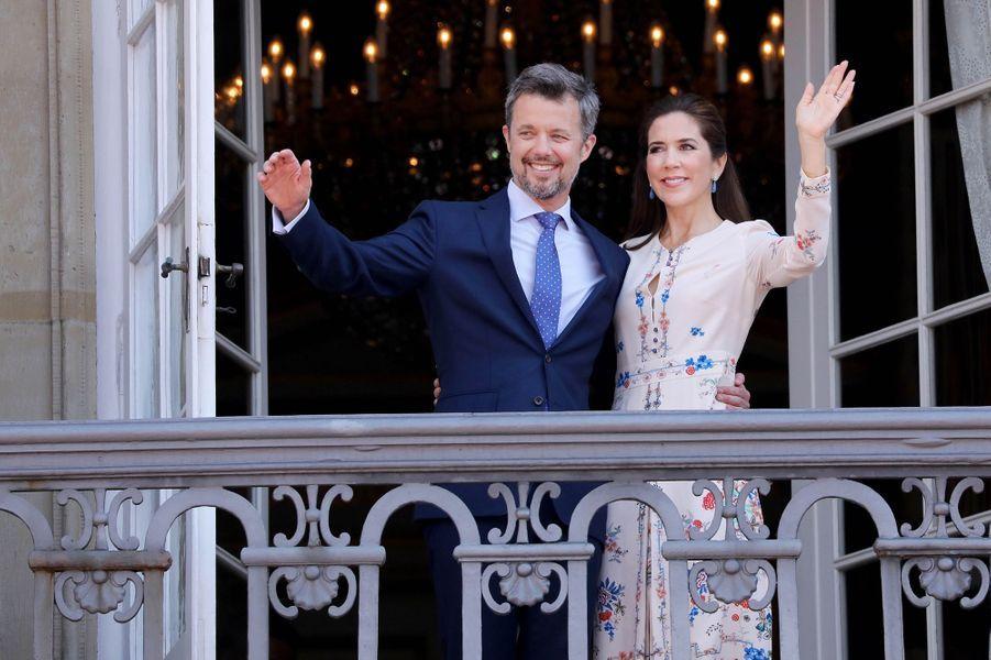 Le prince Frederik de Danemark avec sa femme la princesse Mary, le 26 mai 2018