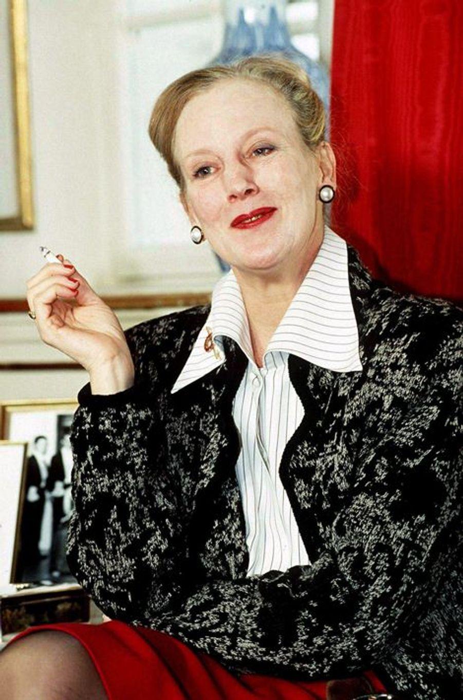 La reine Margrethe II de Danemark, en mai 1992