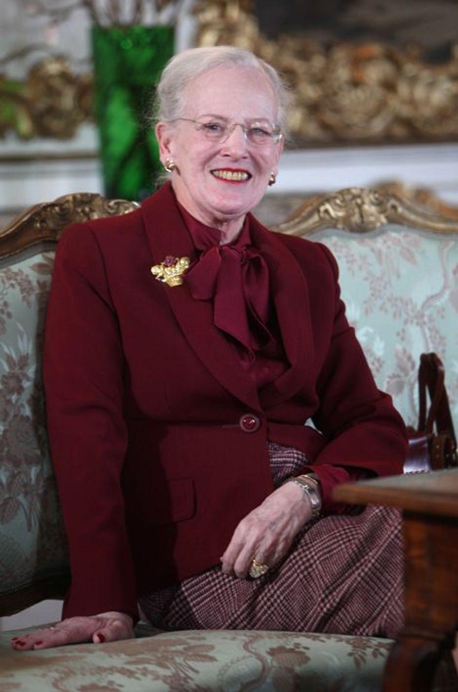 La reine Margrethe II de Danemark, le 13 avril 2015
