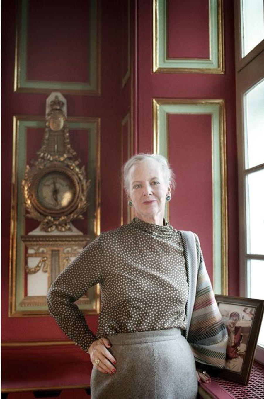 La reine Margrethe II de Danemark pose pour ses 65 ans, le 7 avril 2005