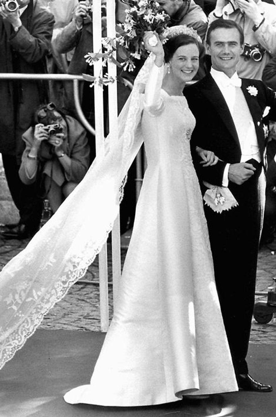 Margrethe de Danemark épouse le Henri de Laborde de Monpezat, le 10 juin 1967