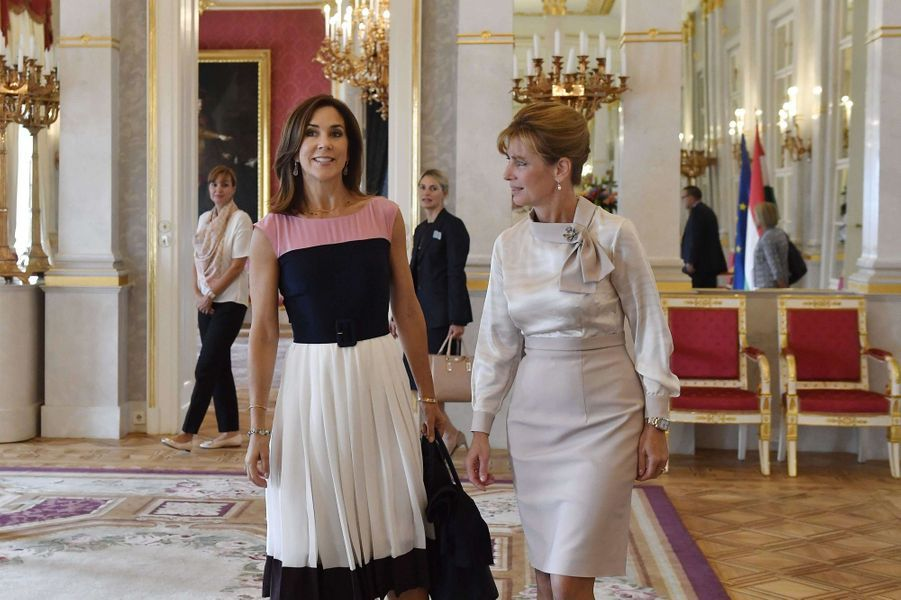 La princesse Mary de Danemark avec Anita Herczegh à Budapest, le 11 septembre 2017