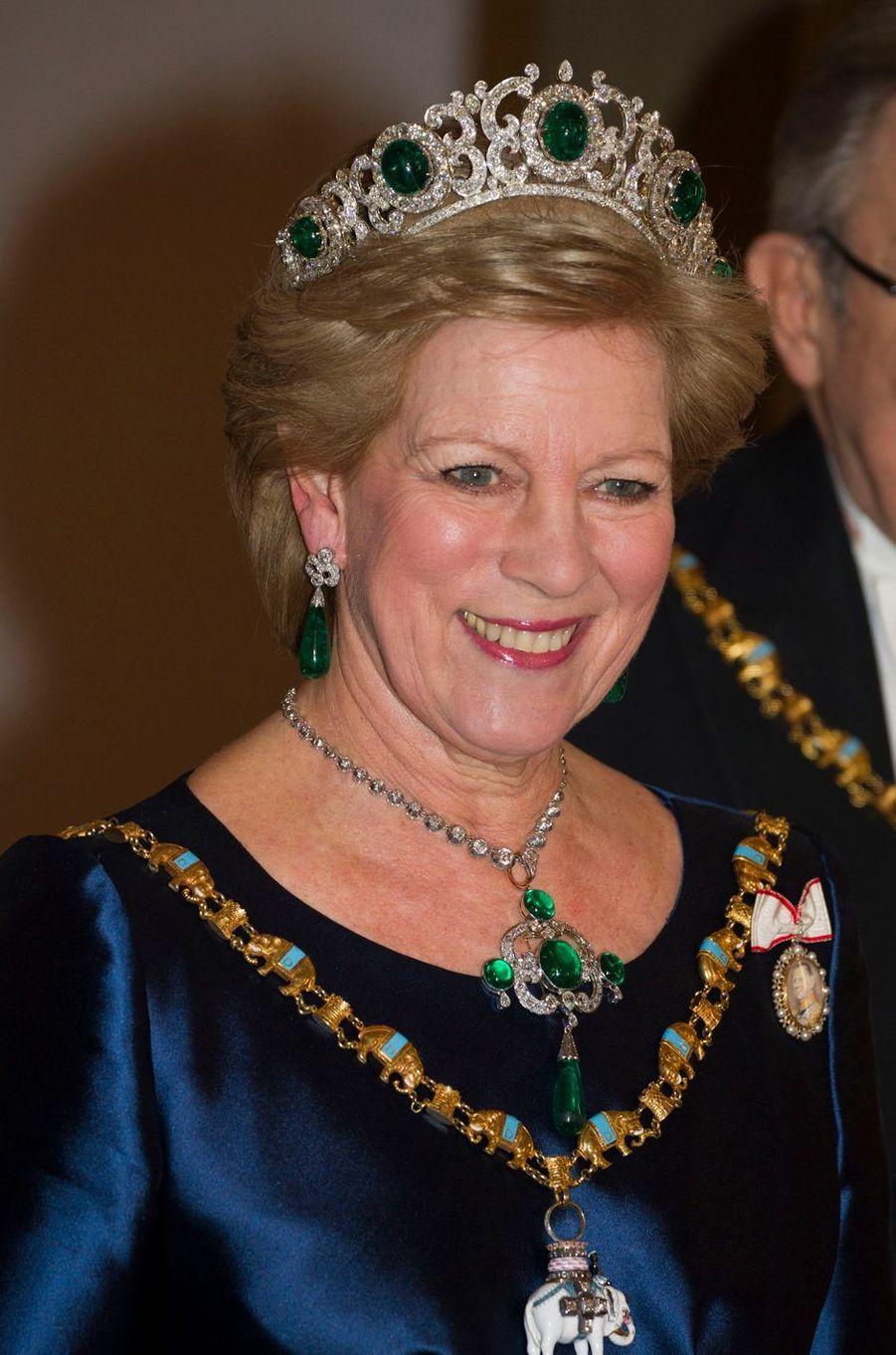 L'ancienne reine Anne-Marie de Grèce, le 15 janvier 2012