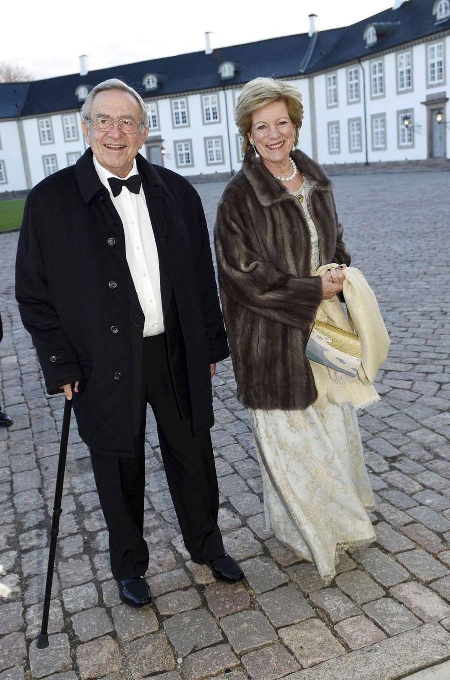 L'ancienne reine Anne-Marie et l'ancien roi Constantin de Grèce, le 16 avril 2015