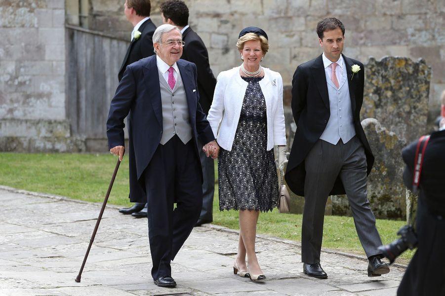 L'ancienne reine Anne-Marie et l'ancien roi Constantin de Grèce, le 25 juin 2016