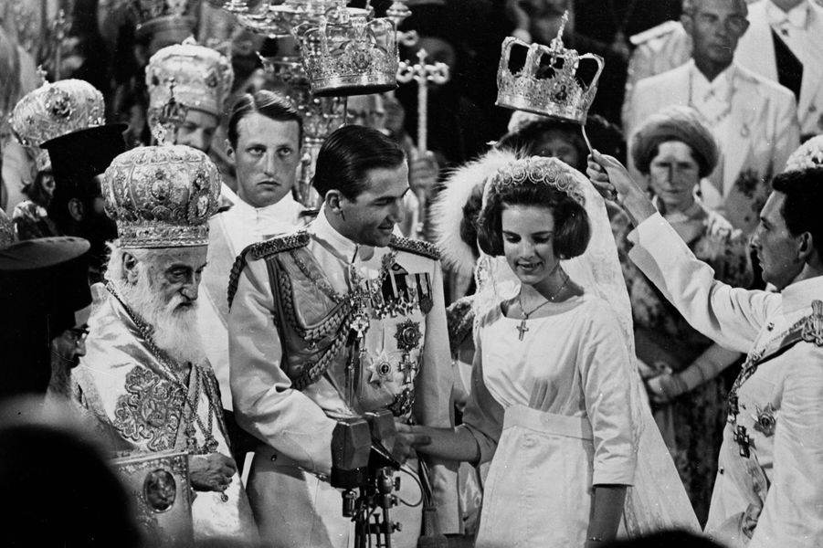 La princesse Anne-Marie de Danemark épouse le roi Constantin II de Grèce le 18 septembre 1964