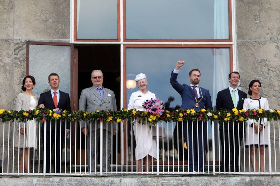 La famille royale de Danemark à Aarhus, le 8 avril 2015