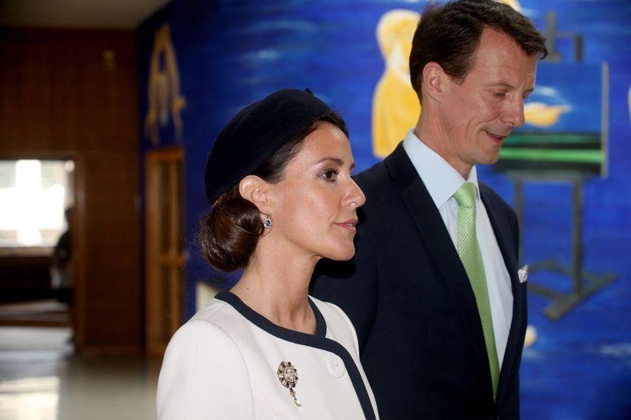 La princesse Marie et le prince Joachim de Danemark à Aarhus, le 8 avril 2015