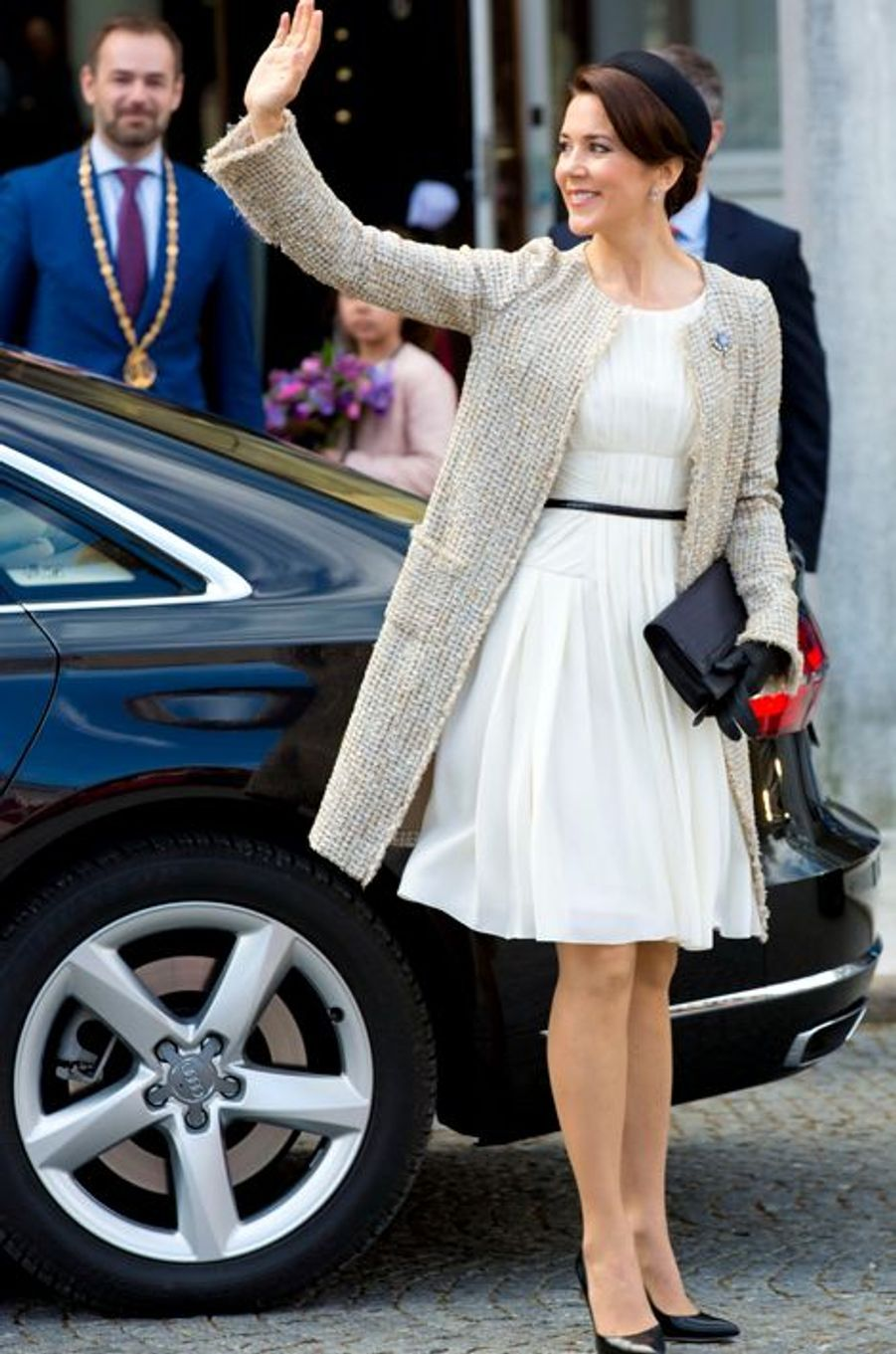 La princesse Mary de Danemark à Aarhus, le 8 avril 2015