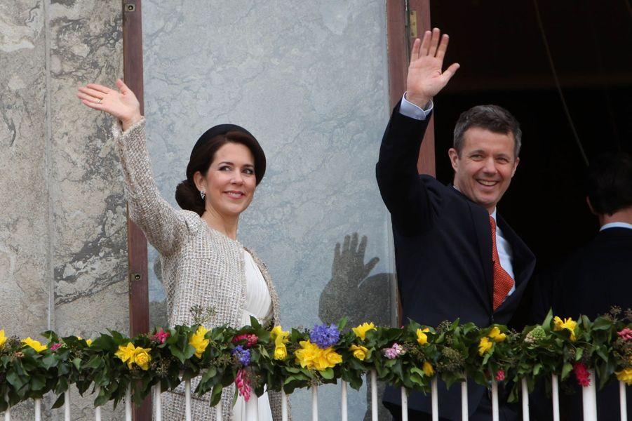 La princesse Mary et le prince Frederik de Danemark à Aarhus, le 8 avril 2015