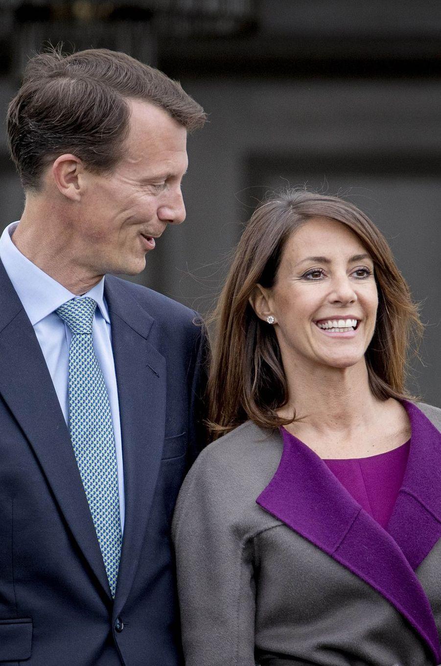 La princesse Marie et le prince Joachim de Danemark à Marselisborg, le 15 avril 2017