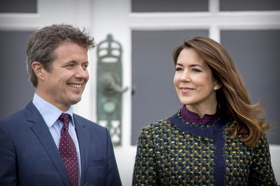 La princesse Mary et le prince Frederik de Danemark à Marselisborg, le 15 avril 2017