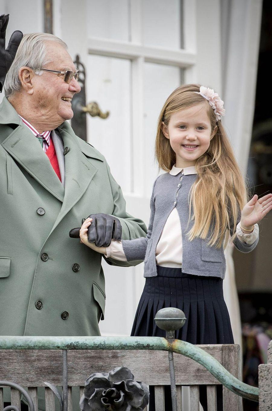 Le prince Henrik et le princesse Josephine de Danemark à Marselisborg, le 15 avril 2017