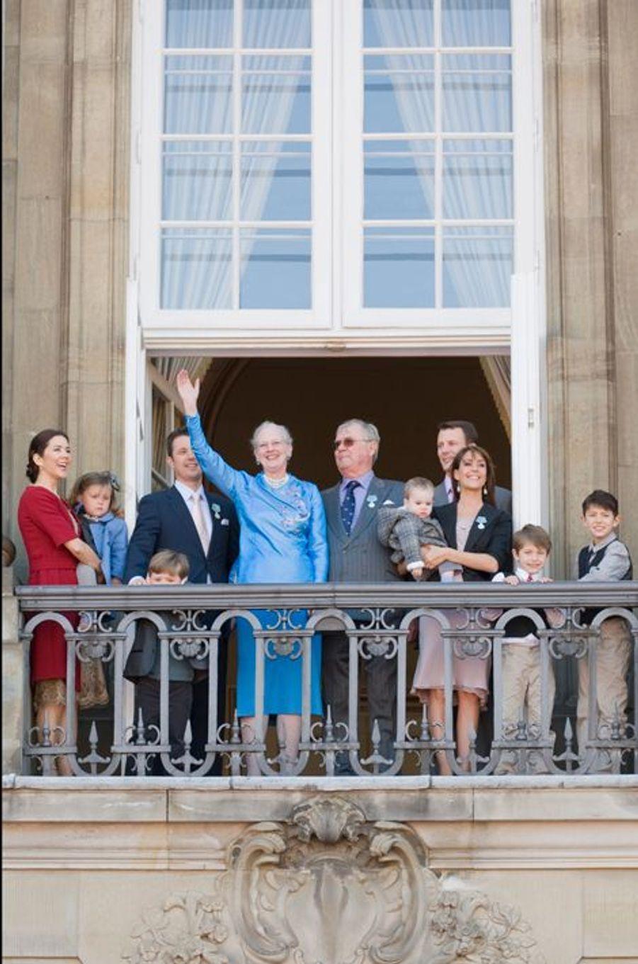 La princesse Marie avec la famille royale du Danemark, le 16 avril 2010