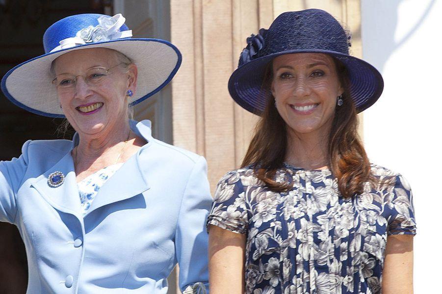 La princesse Marie avec la reine Margrethe II de Danemark, le 18 mai 2013