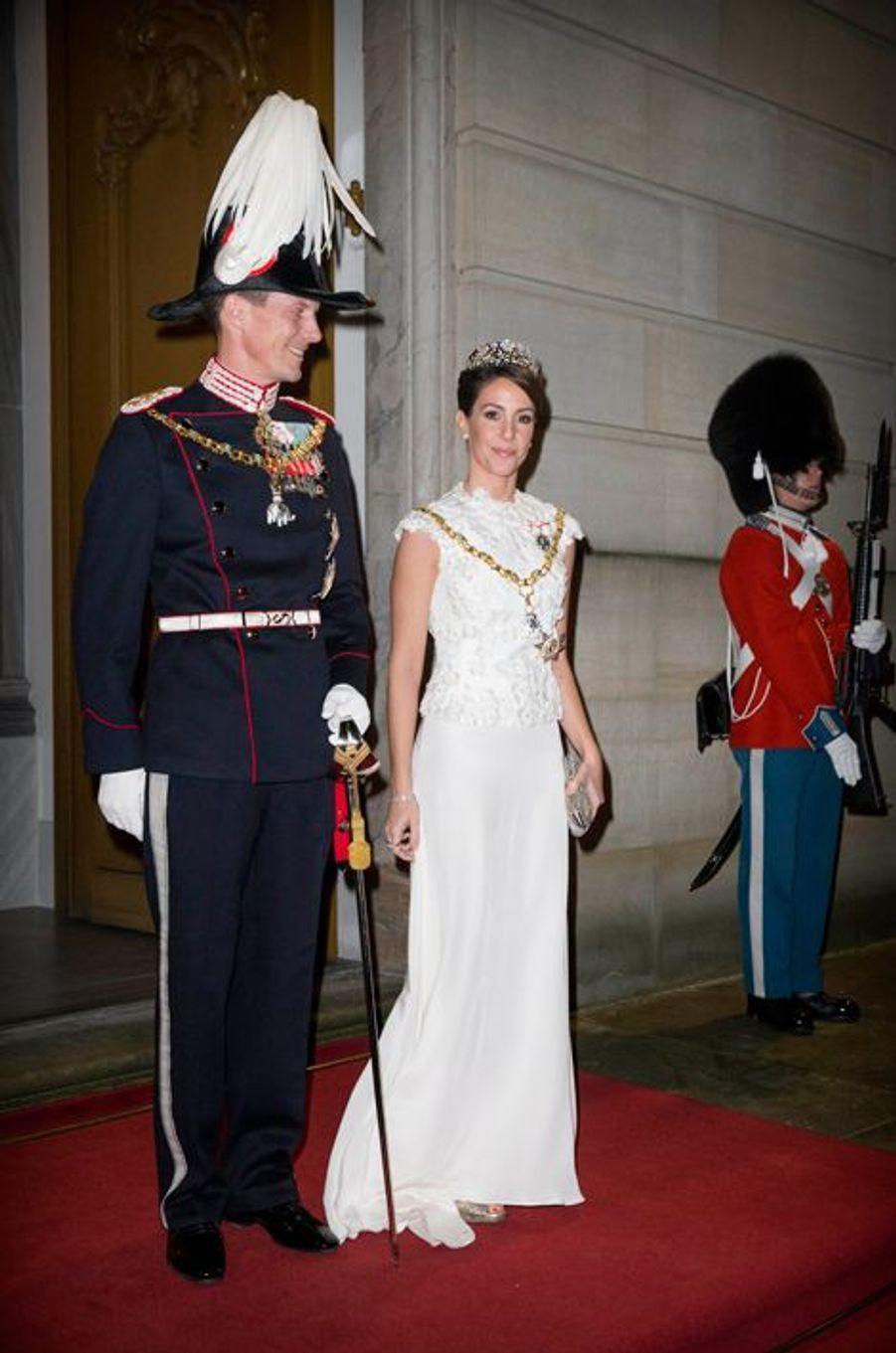 La princesse Marie avec le prince Joachim de Danemark, le 1er janvier 2016