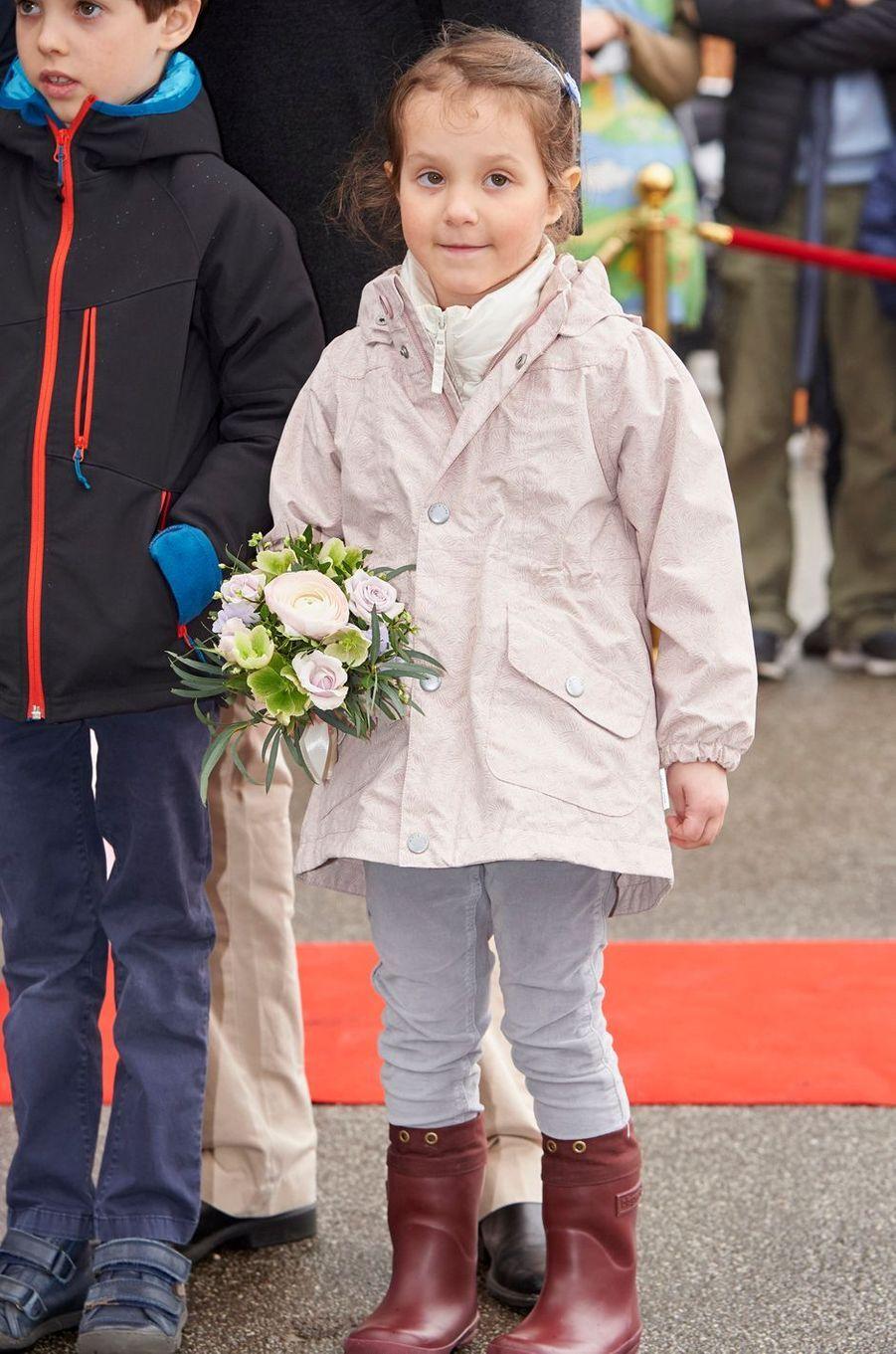 La princesse Athena de Danemark à Copenhague, le 30 mars 2017