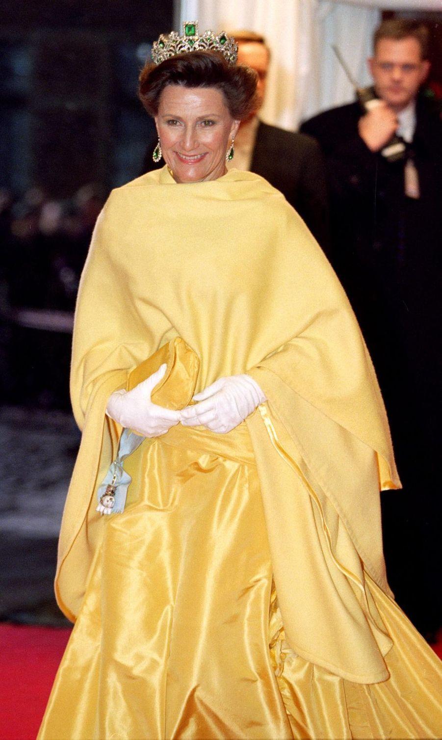 La reine Sonja de Norvège à Frederiksborg, le 18 novembre 1995