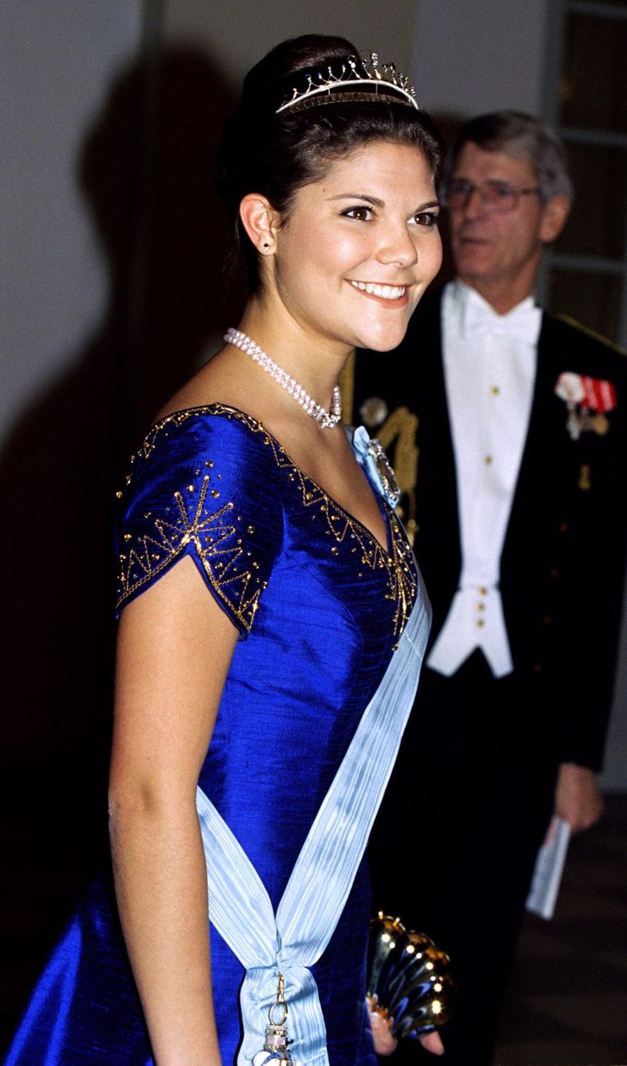 La princesse héritière Victoria de Suède, à Copenhague le 17 novembre 1995