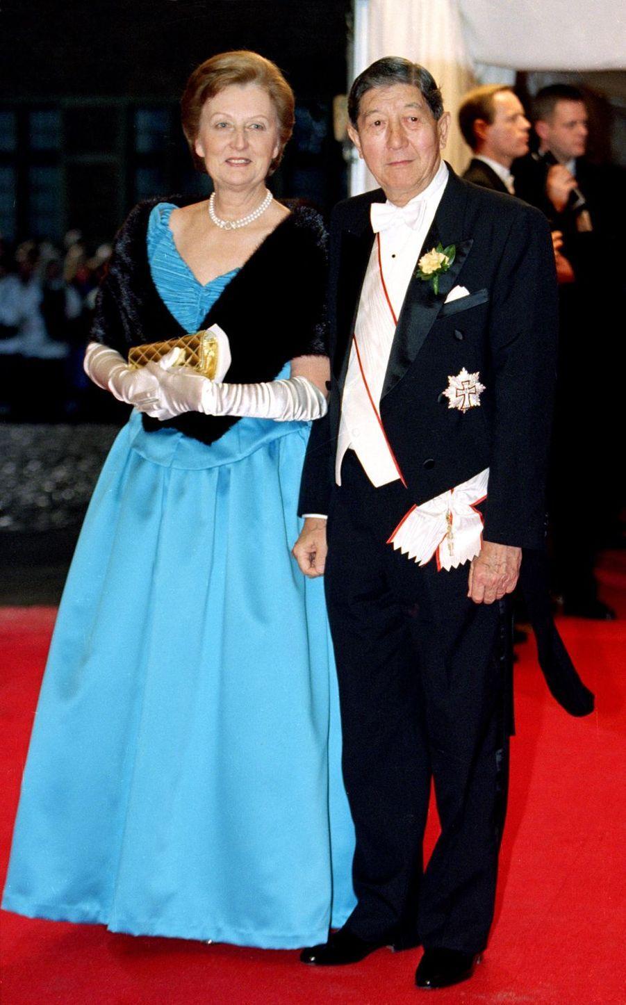 Les parents d'Alexandra Manley, à Frederiksborg le 18 novembre 1995