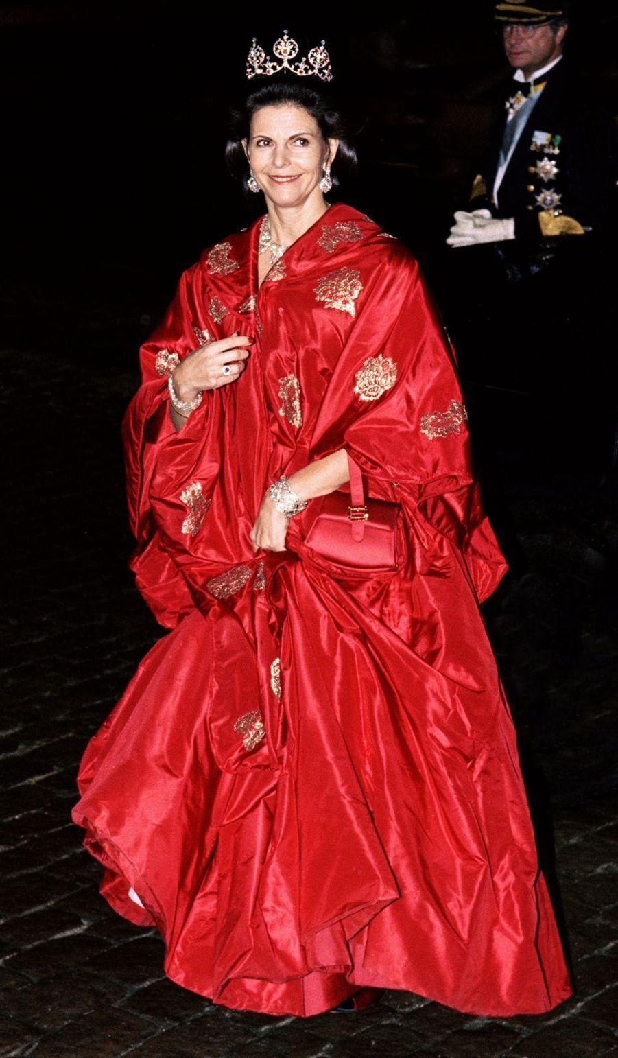 La reine Silvia de Suède à Frederiksborg, le 18 novembre 1995