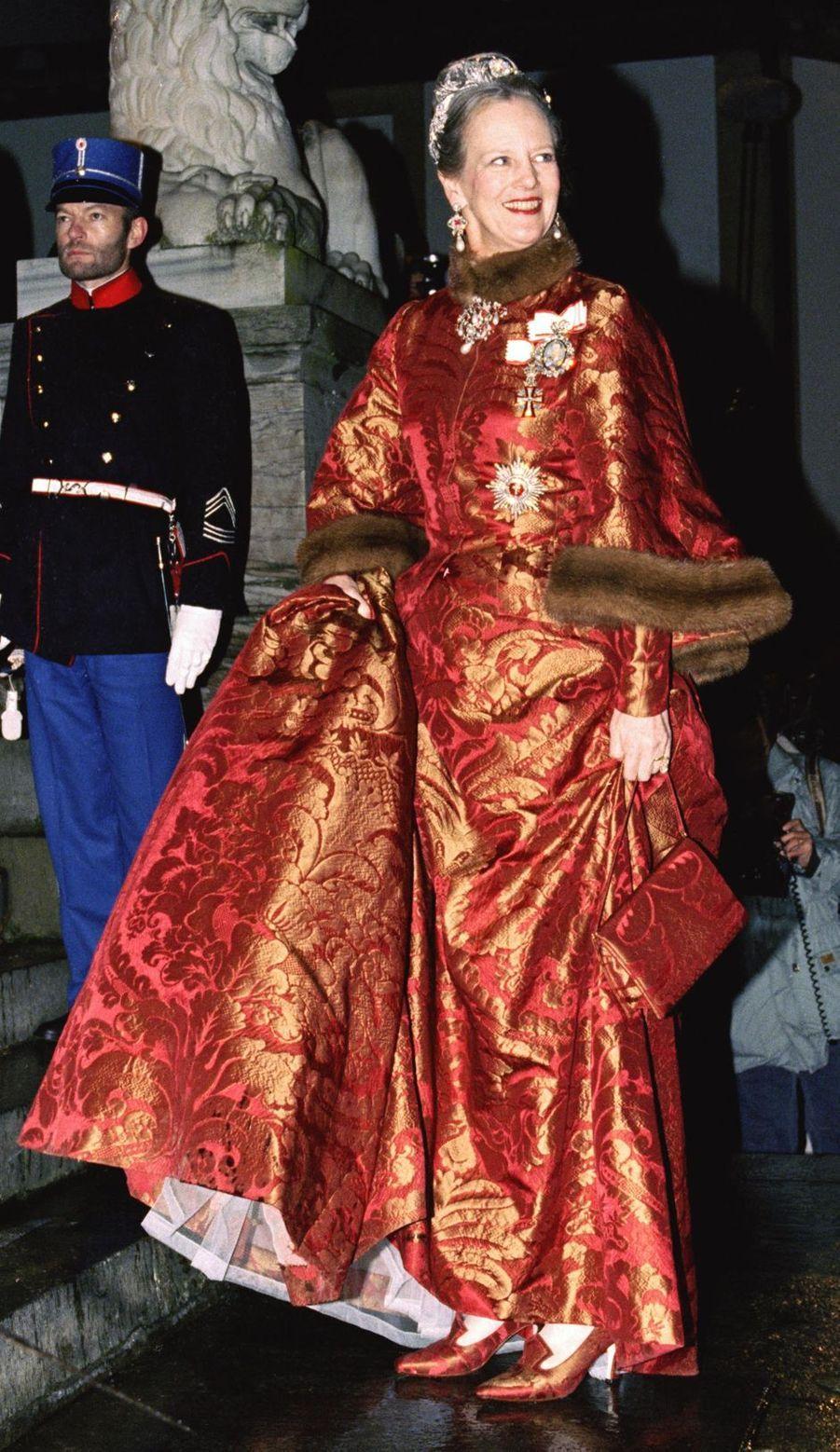 La reine Margrethe II de Danemark à Frederiksborg le 18 novembre 1995