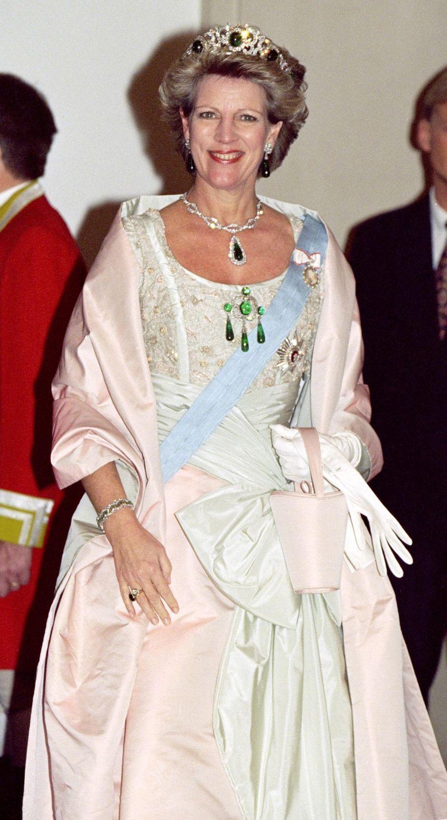 L'ex-reine des Hellènes Anne-Marie, tante du marié, à Copenhague le 17 novembre 1995