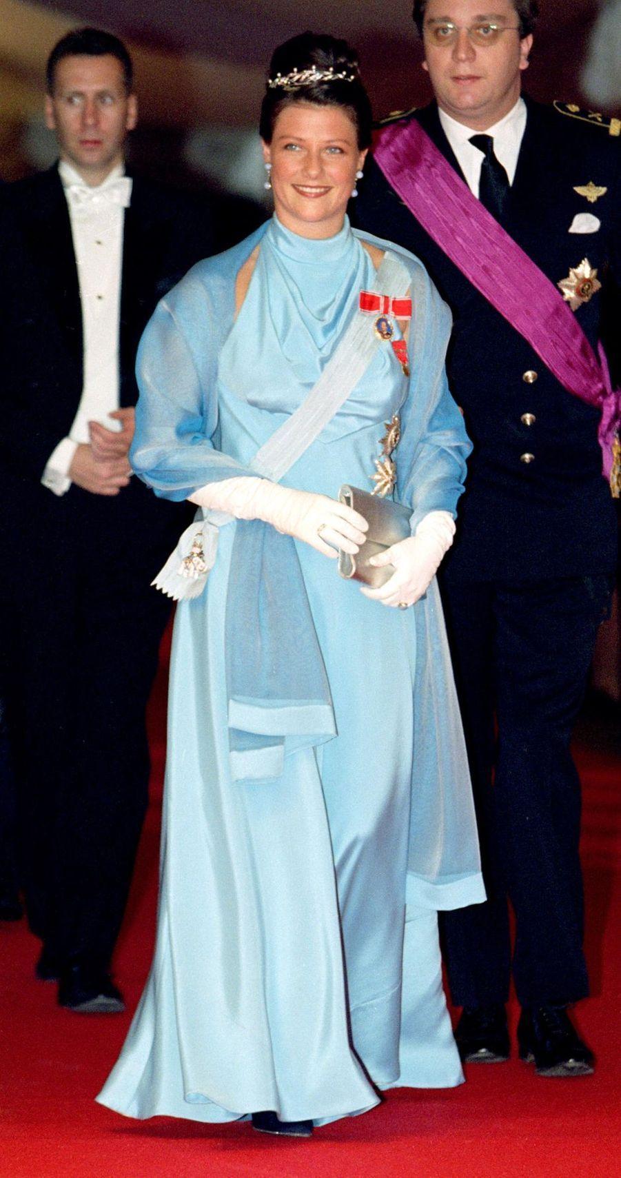 La princesse Märtha Louise de Norvège et le prince Laurent de Belgique à Frederiksborg, le 18 novembre 1995