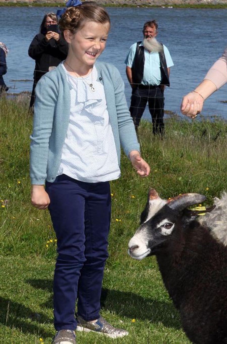 La princesse Isabella de Danemark sur l'île de Samso, le 6 juin 2015