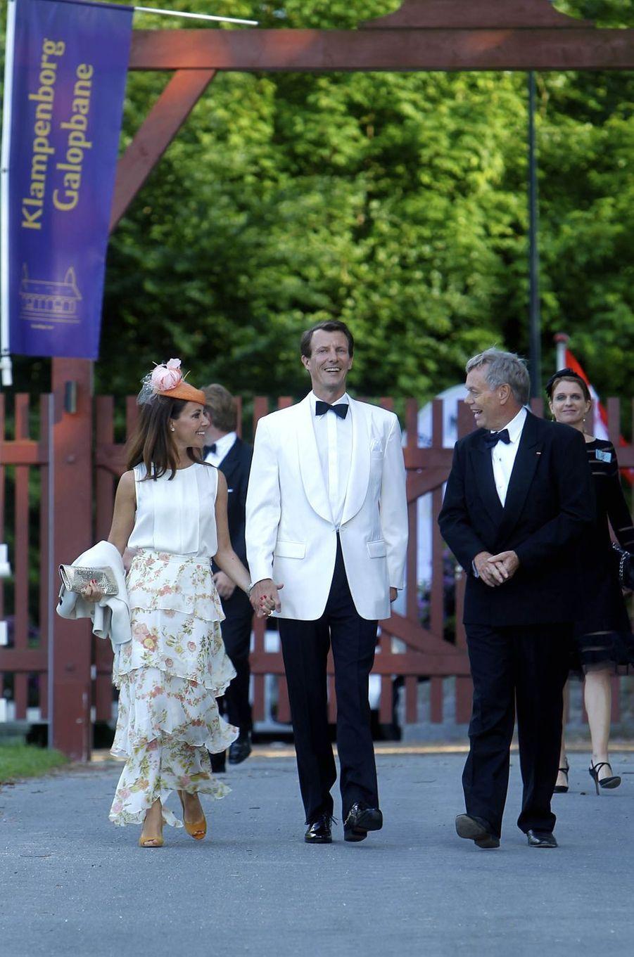 La princesse Marie et le prince Joachim de Danemark à l'hippodrome de Klampenborg, le 14 juin 2017