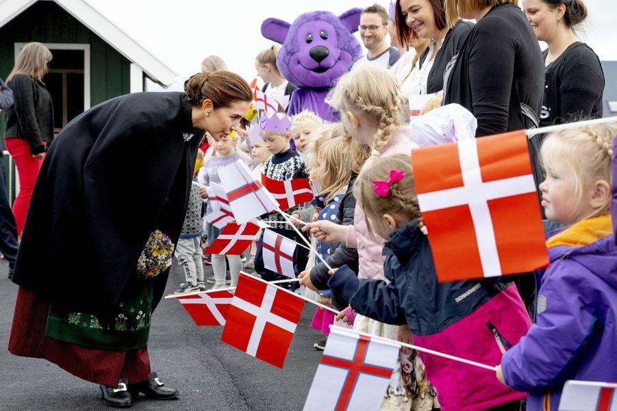 La princesse Mary de Danemark aux îles Féroé, le 23 août 2018