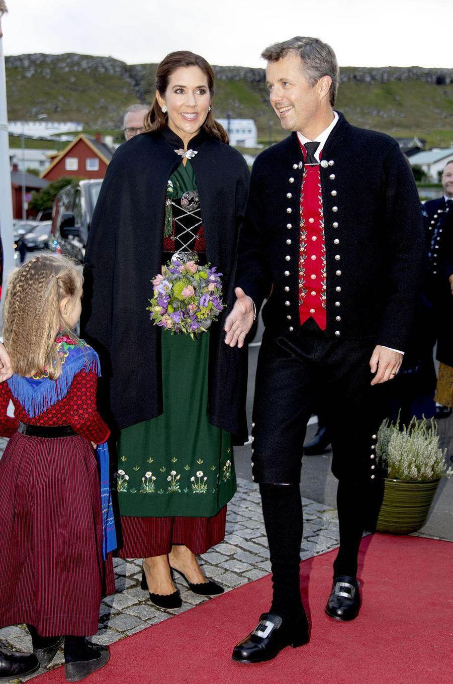 La princesse Mary et le prince Frederik de Danemark aux îles Féroé, le 23 août 2018