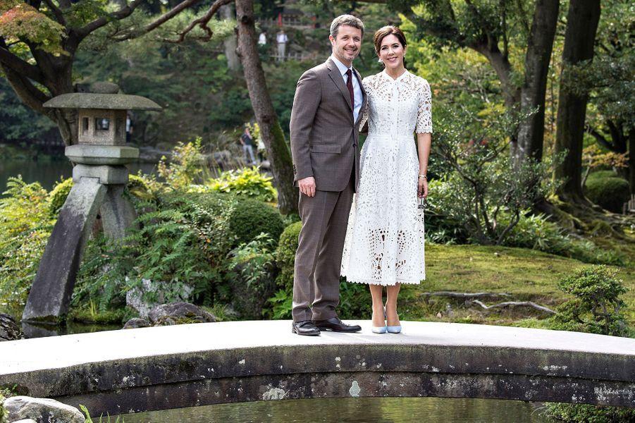 La princesse Mary et le prince Frederik de Danemark à Kanazawa, le 9 octobre 2017